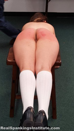 Real Spankings Institute - Kaylee Is Punished By The Dean (part 2 Of 2) - image 2