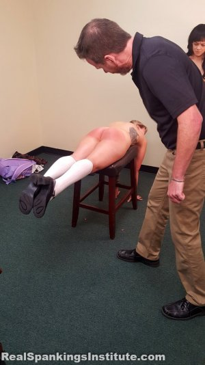 Real Spankings Institute - 2 Naughty Girls Spanked (part 3 Of 4) - image 9