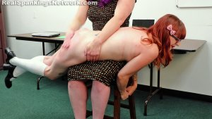 Real Spankings Institute - Miss Betty Punishes Isabella (part 1 Of 2) - image 6