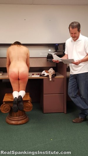 Real Spankings Institute - Kaylee Is Punished By The Dean (part 2 Of 2) - image 7
