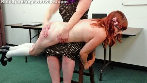 Real Spankings Institute - Miss Betty Punishes Isabella (part 1 Of 2) - image 7