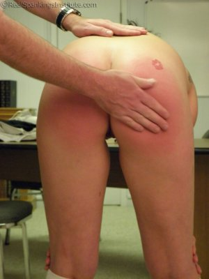 Real Spankings Institute - Sophie And Frankie Handspanked By The Dean (part 2 Of 2) - image 13