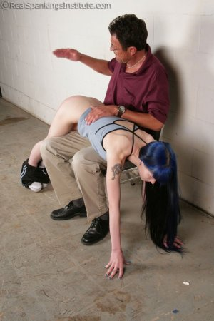 Real Spankings Institute - Mr. King Spanks Lila In The Hallway - image 3
