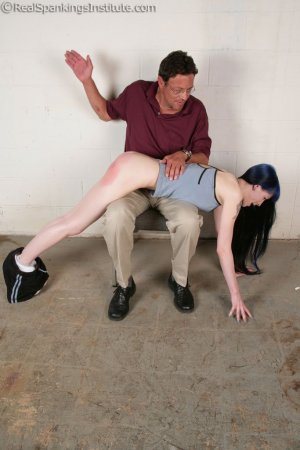 Real Spankings Institute - Mr. King Spanks Lila In The Hallway - image 5