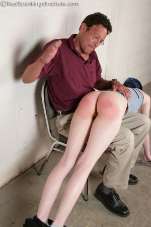 Real Spankings Institute - Mr. King Spanks Lila In The Hallway - image 11