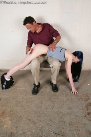Real Spankings Institute - Mr. King Spanks Lila In The Hallway - image 14