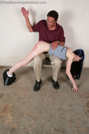 Real Spankings Institute - Mr. King Spanks Lila In The Hallway - image 17