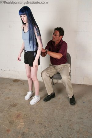 Real Spankings Institute - Mr. King Spanks Lila In The Hallway - image 15