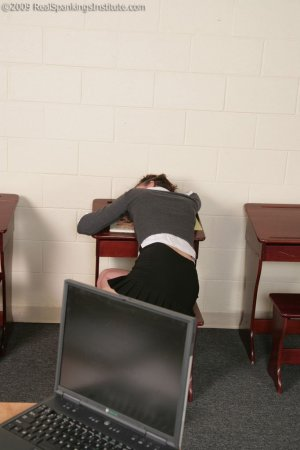 Real Spankings Institute - Jade: Paddled For Sleeping In Study Hall (part 1 Of 2) - image 6