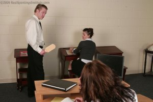 Real Spankings Institute - Jade: Paddled For Sleeping In Study Hall (part 1 Of 2) - image 5