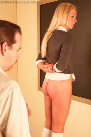 Real Spankings Institute - Riley Strapped While Standing On Stool - image 2