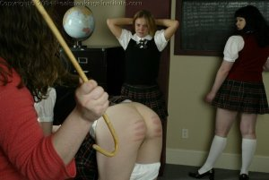 Real Spankings Institute - Kathy And Jennifer Are Caned By The Dorm Mom - image 8