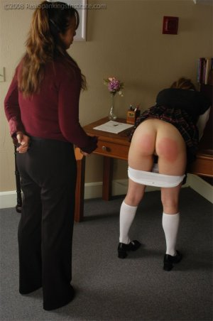 Real Spankings Institute - Raquel Is Pulled Into Ms. Baker's Office - image 2