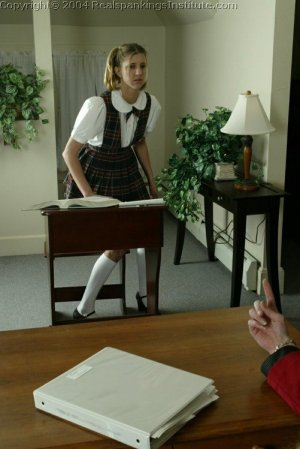 Real Spankings Institute - Traci Is Paddled Over The Teacher's Desk - image 3