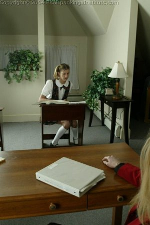 Real Spankings Institute - Traci Is Paddled Over The Teacher's Desk - image 4