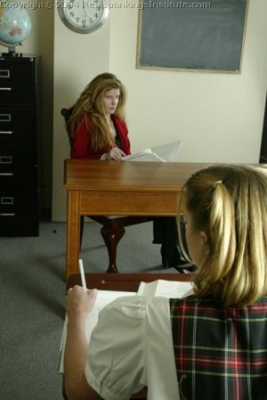 Real Spankings Institute - Traci Is Paddled Over The Teacher's Desk - image 2