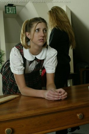 Real Spankings Institute - Traci Is Paddled Over The Teacher's Desk - image 16