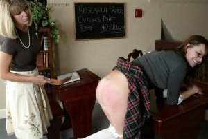 Real Spankings Institute - Jackie Turns In Incomplete Work - image 2