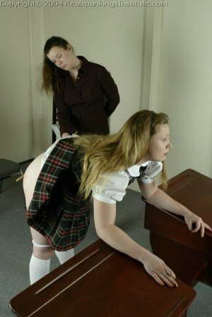 Real Spankings Institute - Carrie Is Caned By The Dorm Mom - image 16