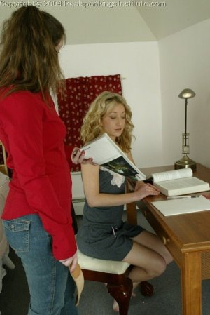 Real Spankings Institute - Sarah Is Strapped Hard By The Dorm Mom - image 9