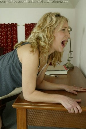 Real Spankings Institute - Sarah Is Strapped Hard By The Dorm Mom - image 13