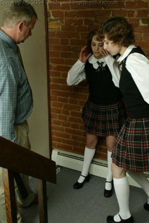 Real Spankings Institute - Jasmine And Heather Are Strapped In The Hallway - image 3