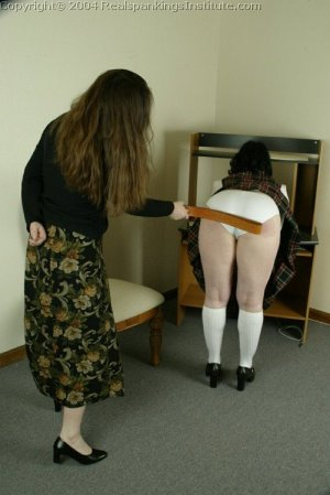 Real Spankings Institute - Betty Is Strapped For Disrupting Class - image 9