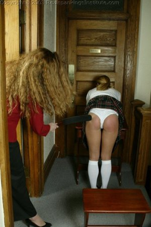 Real Spankings Institute - Jennifer Is Strapped In The Hallway - image 15