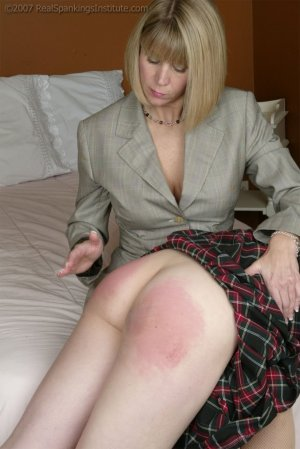 Real Spankings Institute - Monica Violates The Dress Code - image 4