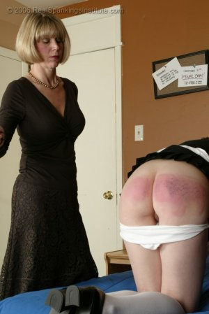 Real Spankings Institute - Monica Is Spanked On All Fours - image 4