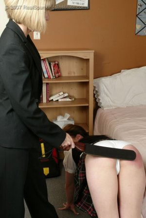 Real Spankings Institute - Claire Spanked For Coercion - image 8