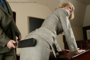 Real Spankings Institute - Ms. Burns' Classroom Paddling - image 5