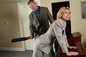 Real Spankings Institute - Ms. Burns' Classroom Paddling - image 2
