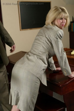 Real Spankings Institute - Ms. Burns' Classroom Paddling - image 7