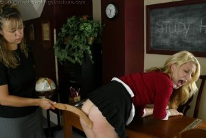 Real Spankings Institute - Sarah's Classroom Strapping - image 6