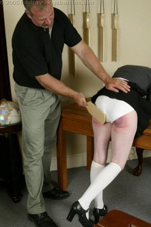 Real Spankings Institute - Bailey's Classroom Paddling - image 1