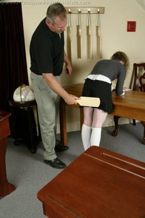 Real Spankings Institute - Bailey's Classroom Paddling - image 6