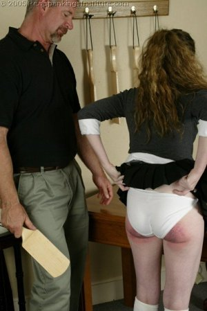 Real Spankings Institute - Bailey's Classroom Paddling - image 3