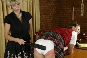 Real Spankings Institute - Jackie's Meeting With Ms. Burns - image 1