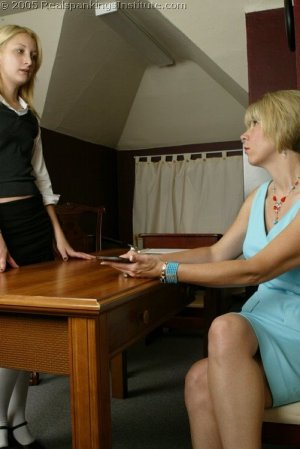 Real Spankings Institute - Sarah's Meeting With Ms. Burns - image 13