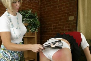 Real Spankings Institute - Jackie Is Paddled For Missing Class - image 12