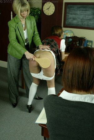 Real Spankings Institute - Michelle Paddled By Mrs. Burns - image 17