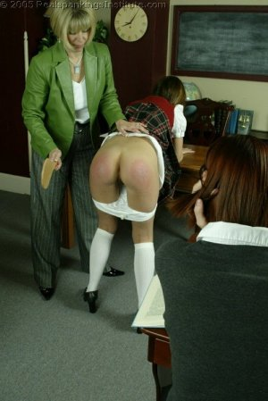 Real Spankings Institute - Michelle Paddled By Mrs. Burns - image 15