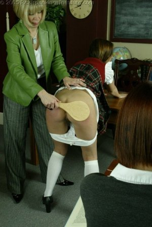 Real Spankings Institute - Michelle Paddled By Mrs. Burns - image 14