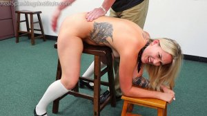 Real Spankings Institute - Cara: Punished For Being Late To Class (part 1 Of 2) - image 4