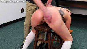Real Spankings Institute - Cara: Punished For Being Late To Class (part 1 Of 2) - image 2