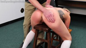 Real Spankings Institute - Cara: Punished For Being Late To Class (part 1 Of 2) - image 1