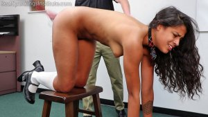 Real Spankings Institute - Cleo's Naked Punishment By The Dean (part 2 Of 2) - image 1