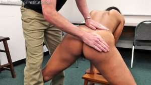 Real Spankings Institute - Cleo's Naked Punishment By The Dean (part 1 Of 2) - image 6