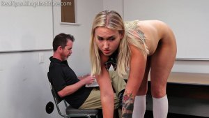 Real Spankings Institute - Cara: Punished For Being Late To Class (part 1 Of 2) - image 10